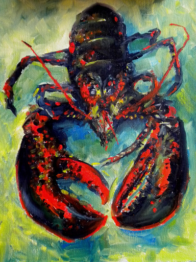 Maine Lobstah painting by Meredith Reynells