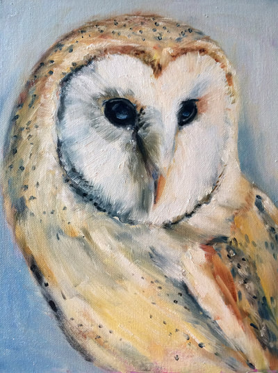 Barn Owl Painting by Meredith Reynells