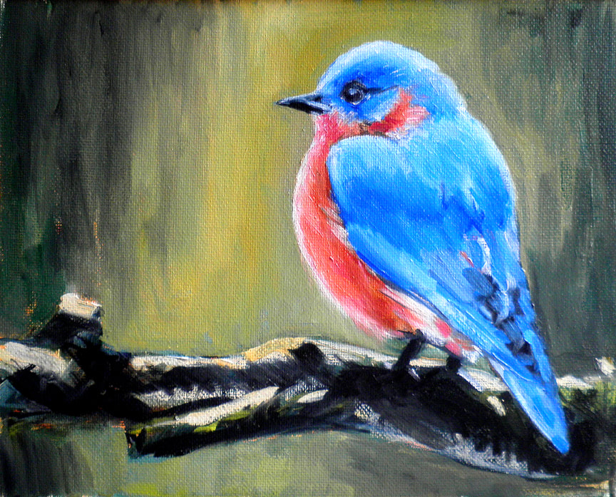 Eastern Blue Bird by Meredith Reynells