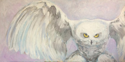 Snowy Owl Painting by Meredith Reynells