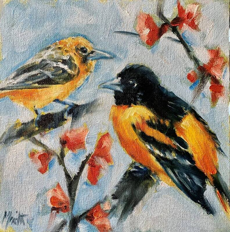 Baltimore Orioles painting by Meredith Reynells