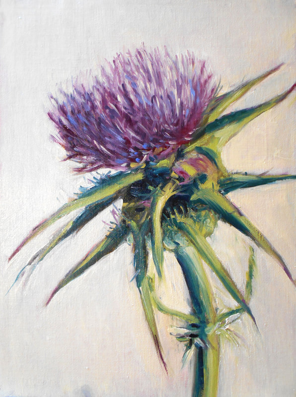Thistle Painting by Meredith Reynells