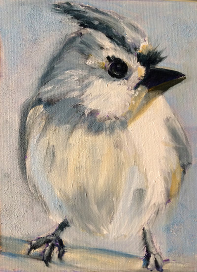 Tit Mouse Painting by Meredith Reynells